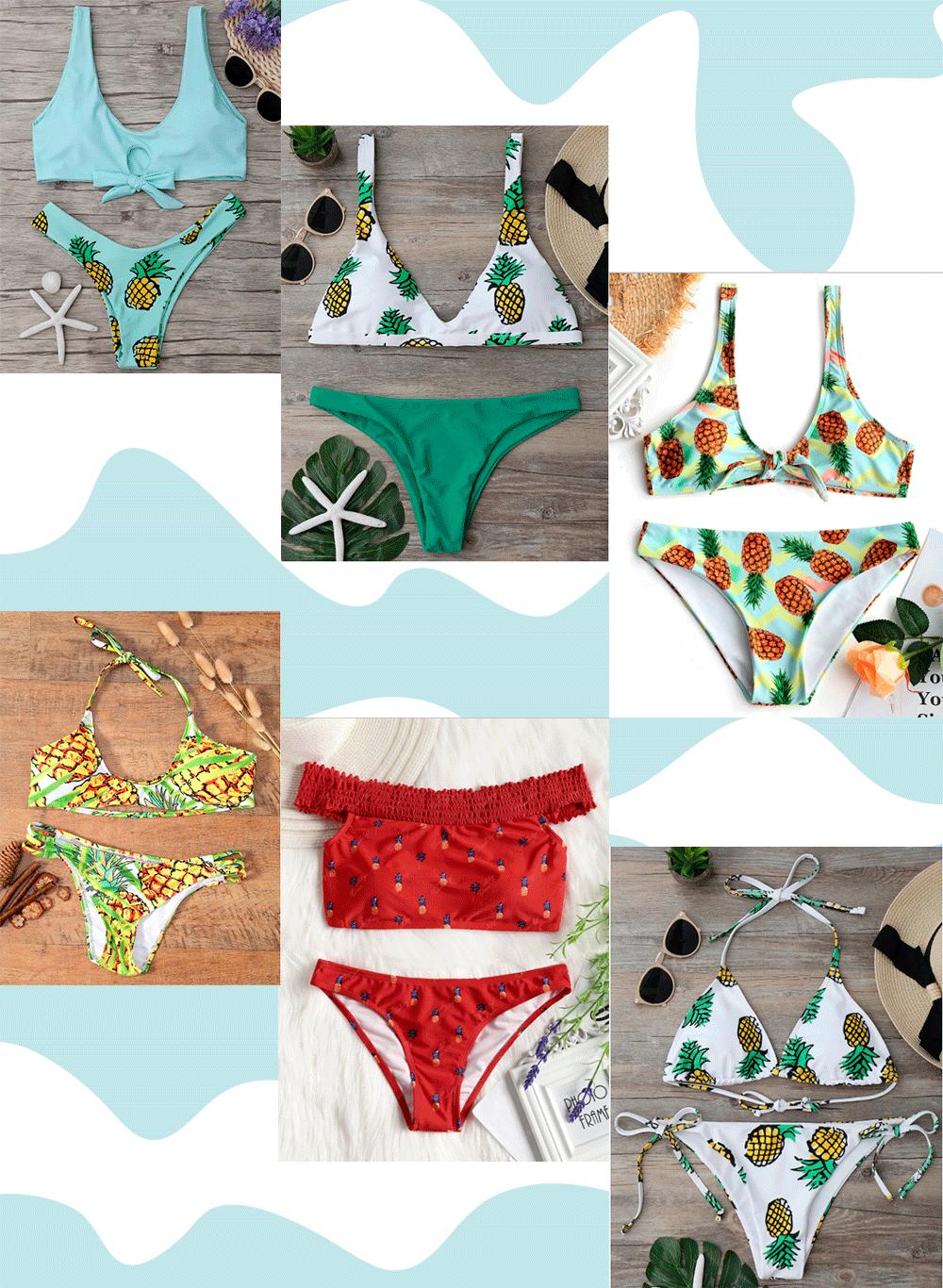 Bikinis estampados piñas- Martina Lubián