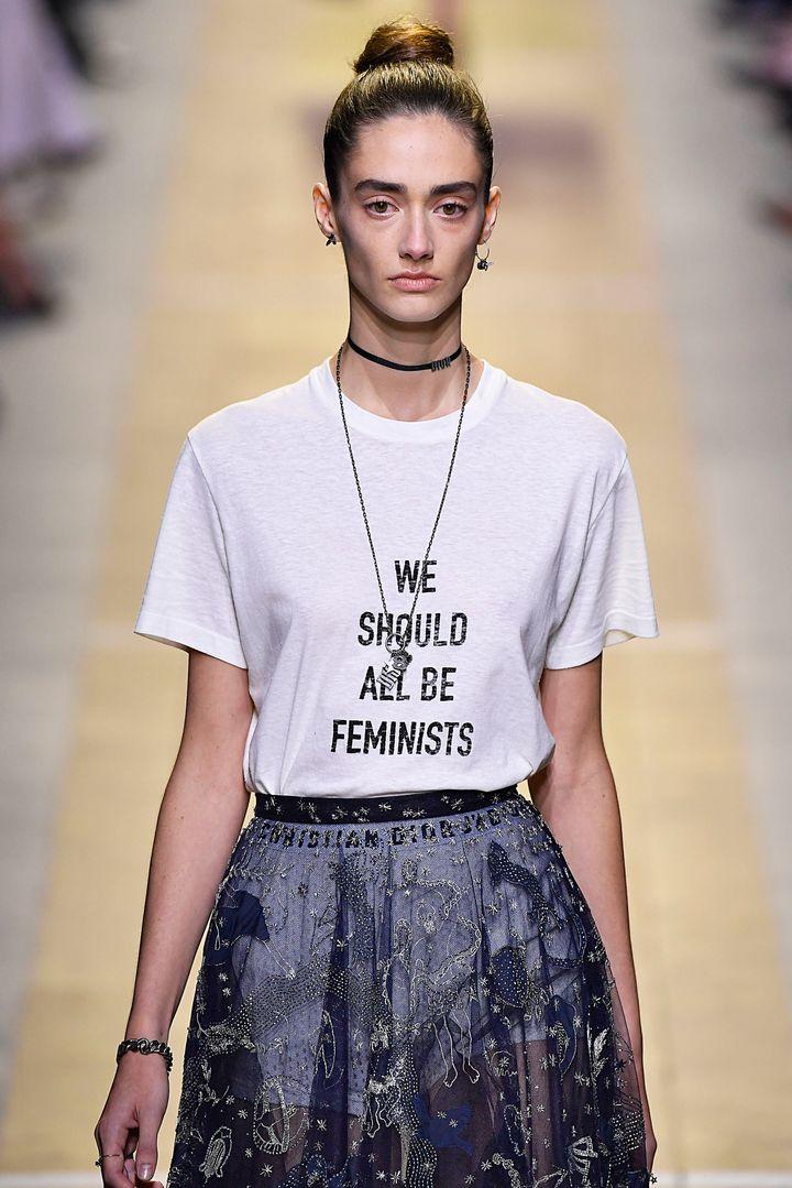 camiseta feminista Dior - Fast fashion y feminismo
